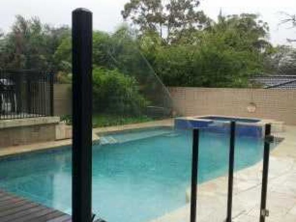 Semiframeless glass pool fencing Gold Coast 16