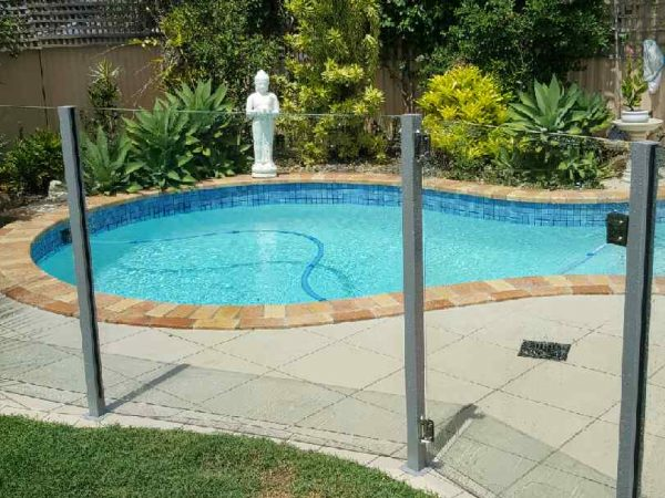 Semiframeless glass pool fencing Gold Coast 26