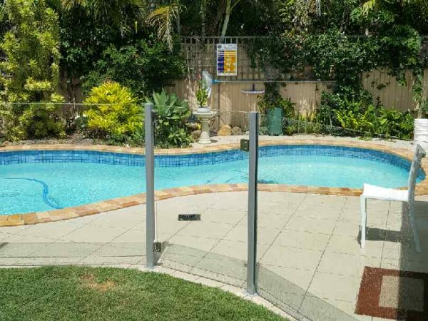 Semiframeless glass pool fencing Gold Coast 27