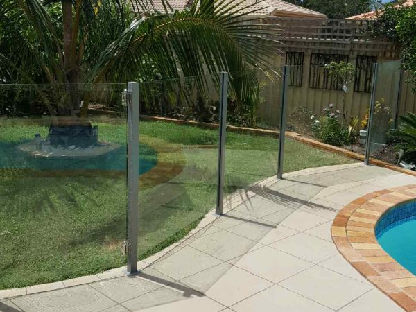 Semiframeless glass pool fencing Gold Coast 28