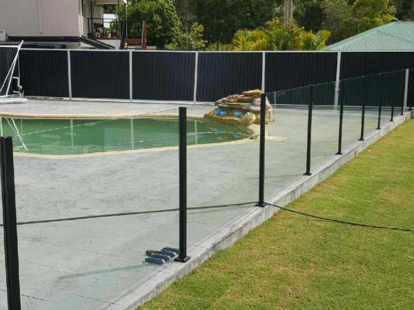 Semiframeless glass pool fencing Gold Coast 29