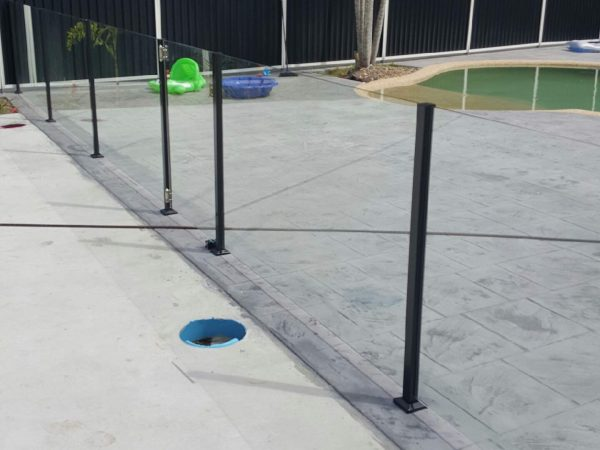 Semiframeless glass pool fencing Gold Coast 30